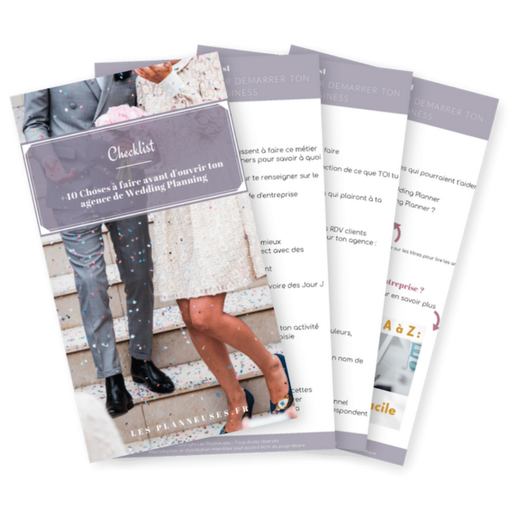Checklist devenir wedding planner